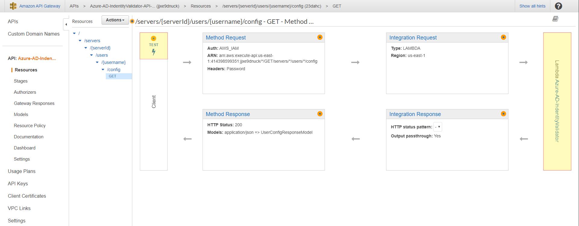 Testing AWS API Gateway for SFTP Azure Identity Providier