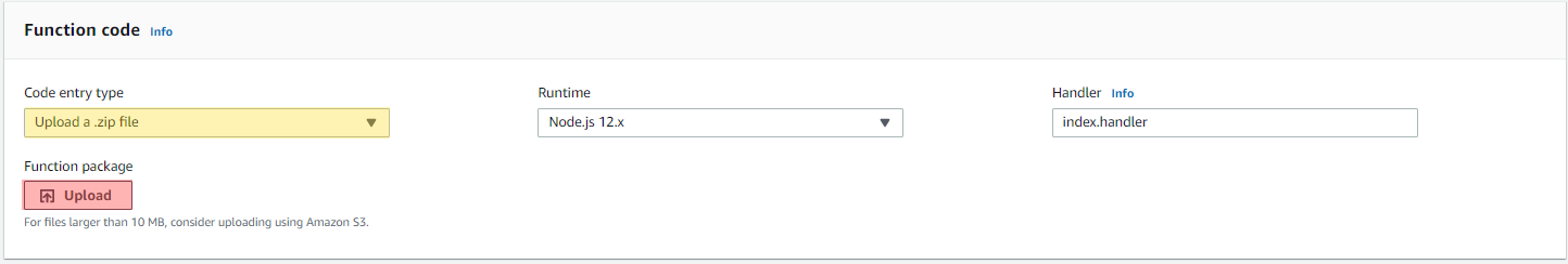 Upload .zip file into AWS Lambda function for custom identity provider for AWS Transfer for SFTP